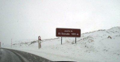 Situación nevada en Cantabria